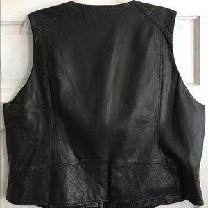 Calvin Klein Jackets & Coats - CALVIN KLEIN Faux Leather Vest